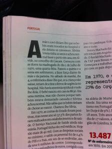 O princípio da minha vida na revista Sábado desta semana. A reportagem, óptima, é do jornalista Vítor Matos