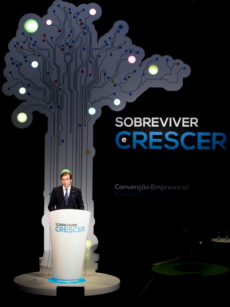 Lisboa - Pedro Passos Coelho na abertura da convenção empresarial - Sobreviver e Crescer