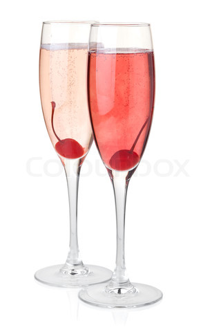 Red and rose champagne